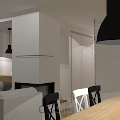 Piaseczno | Wizualizacje: styl , w kategorii Jadalnia zaprojektowany przez DW SIGN Pracownia Architektury Wnętrz