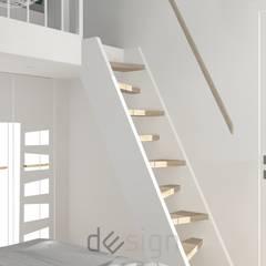 Wola IV | Wizualizacje: styl , w kategorii Schody zaprojektowany przez DW SIGN Pracownia Architektury Wnętrz