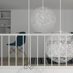 Wola IV   Wizualizacje: styl , w kategorii Domowe biuro i gabinet zaprojektowany przez DW SIGN Pracownia Architektury Wnętrz