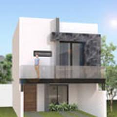Proyecto lomas: Casas unifamiliares de estilo  por Cubika Arquitectos
