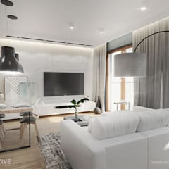HARMONIJNIE: styl , w kategorii Salon zaprojektowany przez INVENTIVE studio