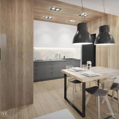 HARMONIJNIE: styl , w kategorii Aneks kuchenny zaprojektowany przez INVENTIVE studio