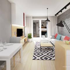 KONTRASTY: styl , w kategorii Salon zaprojektowany przez INVENTIVE studio