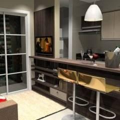 Ambientes Planejados: Armários e bancadas de cozinha  por Confraria da Casa