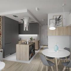 MĘSKI punkt widzenia: styl , w kategorii Aneks kuchenny zaprojektowany przez INVENTIVE studio