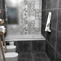 BAÑO EN SUITE: Baños de estilo  por JACH,Minimalista Azulejos