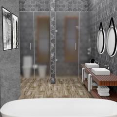 Área Ducha y Sanitarios: Baños de estilo moderno por JACH