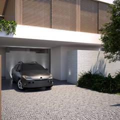 Garajes abiertos de estilo  por EMF arquitetura