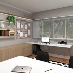 Home Office: Escritórios  por Rebeka Ferle Maske