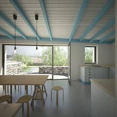 Casa Cabeço de Vide, Portugal por brf architecture Rústico Betão