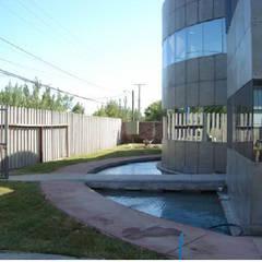 Oficinas y Bodegas Tefix : Estanques de jardín de estilo  por Incubar: Arquitectura & Construcción