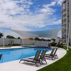 alberca closter 3 Paraiso country club: Edificios de Oficinas de estilo  por Albercas de Calidad S.A. de C.v