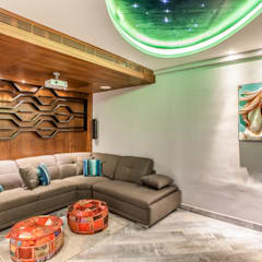 Media room by S Squared Architects Pvt Ltd.