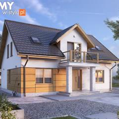 Projekt domu Aurum: styl , w kategorii Domy zaprojektowany przez Biuro Projektów MTM Styl - domywstylu.pl