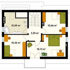 Projekt domu Aurum: styl , w kategorii Ściany zaprojektowany przez Biuro Projektów MTM Styl - domywstylu.pl