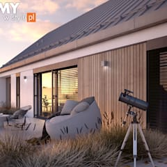 Wizualizacja projektu domu Jemioła 2: styl , w kategorii Domy zaprojektowany przez Biuro Projektów MTM Styl - domywstylu.pl