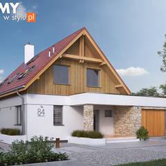 Wizualizacja projektu domu Antara 2: styl , w kategorii Domy zaprojektowany przez Biuro Projektów MTM Styl - domywstylu.pl