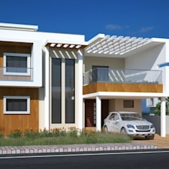 Bungalow door Cfolios Design And Construction Solutions Pvt Ltd