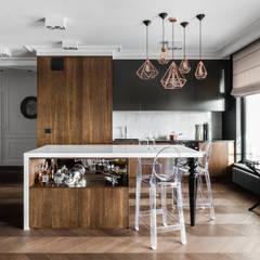 APARTAMENT NAD MOTŁAWĄ - GDAŃSK: styl , w kategorii Kuchnia zaprojektowany przez Anna Serafin Architektura Wnętrz,