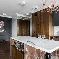 APARTAMENT NAD MOTŁAWĄ - GDAŃSK: styl , w kategorii Kuchnia zaprojektowany przez Anna Serafin Architektura Wnętrz