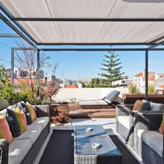 AVENIDAS NOVAS, Lisboa Varandas, marquises e terraços modernos por LAVRADIO DESIGN Moderno