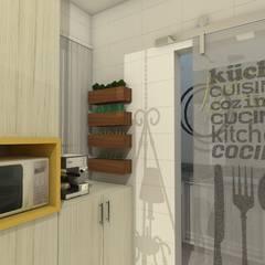 Cozinha do apartamento Retrô: Cozinhas clássicas por AT arquitetos