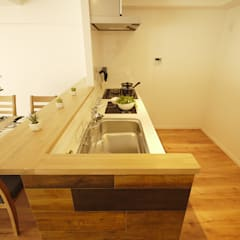北欧インテリアを楽しむノルディックスタイル: セイワビルマスター株式会社が手掛けたキッチンです。