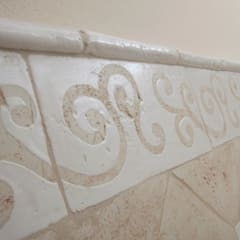 Handcrafted terracotta: product of passion - handcrafted terracotta wall tiling :  Bars & clubs door Terrecotte Europe,