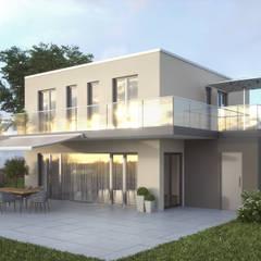 Terrassenansicht :  Passivhaus von ash4project B.V.