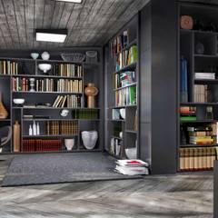 VERO CONCEPT MİMARLIK – Kalafatoğlu Villa İç Mekan: modern tarz Çalışma Odası