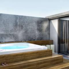 VERO CONCEPT MİMARLIK – Kalafatoğlu Villa İç Mekan:  tarz Çatı