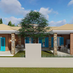 Residência LR: Casas  por Studio Elevare Arquitetura e Interiores