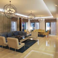 Private Residential Villa Type X - Madinaty :  غرفة المعيشة تنفيذ SIGMA Designs