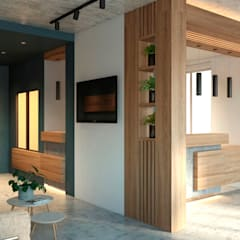 Зона рецепции офиса - идеи дизайна: Офисы и магазины в . Автор – Art-i-Chok