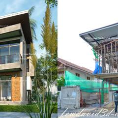 บ้านโมเดิร์นลอฟต์ 4ห้องนอน3ห้องน้ำ:  บ้านเดี่ยว by fewdavid3d-design