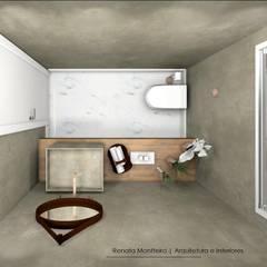 Baños de estilo  por Renata Monteiro Arquitetura e Interiores