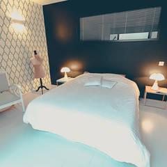 Loft BORDEAUX Chartrons: Chambre de style de style Moderne par Julie Chatelain