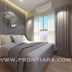 Morden luxury plum condo decorating start 150,000฿:  ห้องนอน by Prontiara