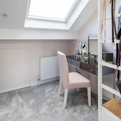 Tooting Whole House Renovation:  Dressing room by Model Projects Ltd