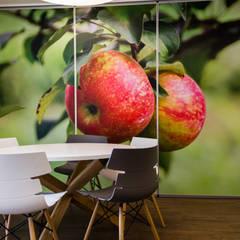 Residencia de estudantes: Salas de jantar  por GF Designers de Interiores