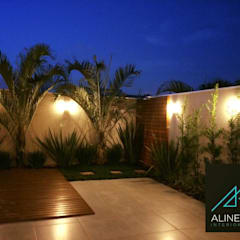 by Aline Dinis Arquitetura de Interiores Tropical Wood Wood effect