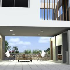 Garajes abiertos de estilo  por Arquitectura Bur Zurita,