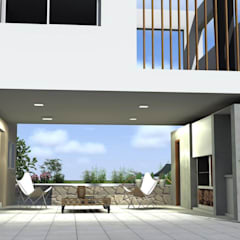 Mái che nhà xe by Arquitectura Bur Zurita