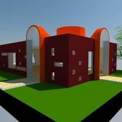 Salón Evento Iglesia : Salas multimedias de estilo  por OMD Arquitectos