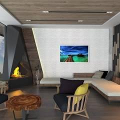 Murat Aksel Architecture – Modern Villa: modern tarz Kış Bahçesi