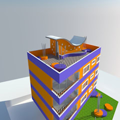 Estudio Cabida: Viviendas colectivas de estilo  por OMD Arquitectos