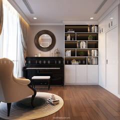 Nội thất căn hộ Vinhomes Central Park - Phong cách Tân Cổ Điển:  Phòng giải trí by ICON INTERIOR