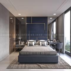 Nội thất căn hộ Vinhomes Golden River - Tòa Aqua:  Phòng ngủ by ICON INTERIOR