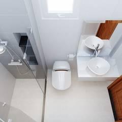 Nhà Phố 4 Tầng Sang Trọng Tại Quận 9:  Phòng tắm by Công ty TNHH Thiết Kế Xây Dựng Song Phát