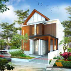 Casas unifamilares de estilo  de Architeamstudio, Tropical Madera Acabado en madera